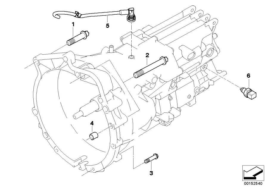 BMW M Coupe Backup light switch. M12X1.5. Transmission