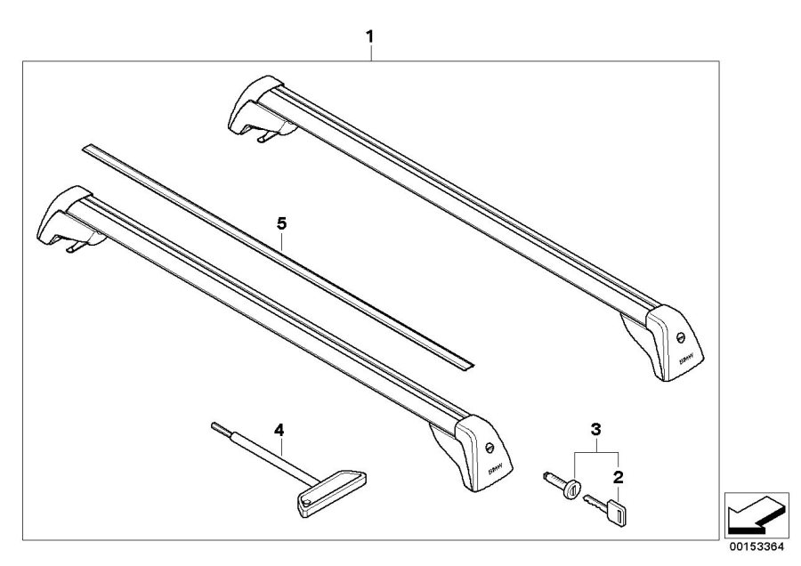 BMW 325xi Railing carrier. E91 HOCHRELING. Yes, Vehicles