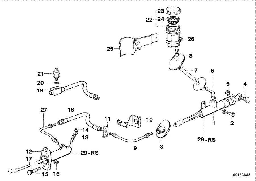 BMW 525i Dust cap. Drum, slave, scheibenbremse, cyl