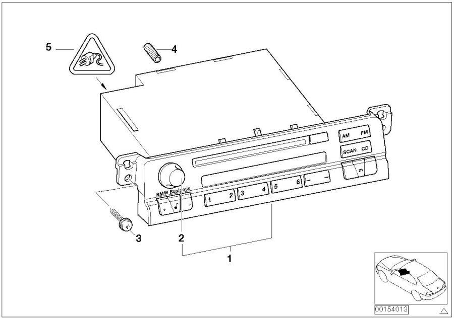 BMW 323Ci Exch. Radio BMW business CD. System, Multi