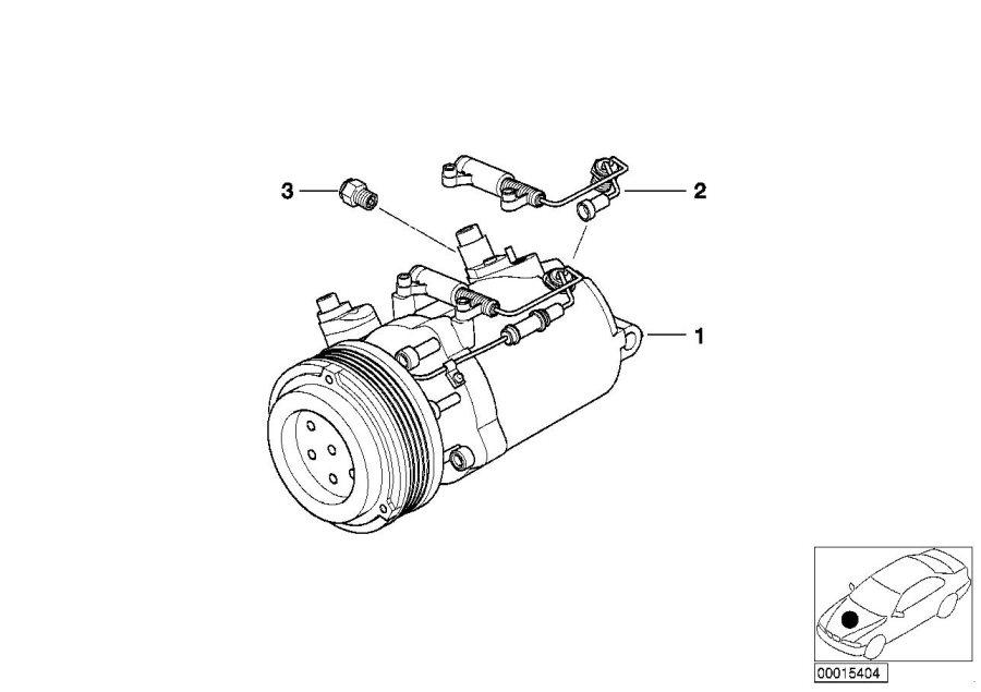 BMW 328Ci Rp a/c compressor. Air, conditioning