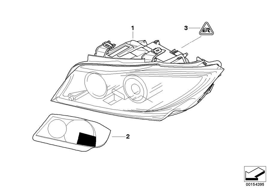 BMW 335xi Ahl-xenon headlight, right. Zkw. System