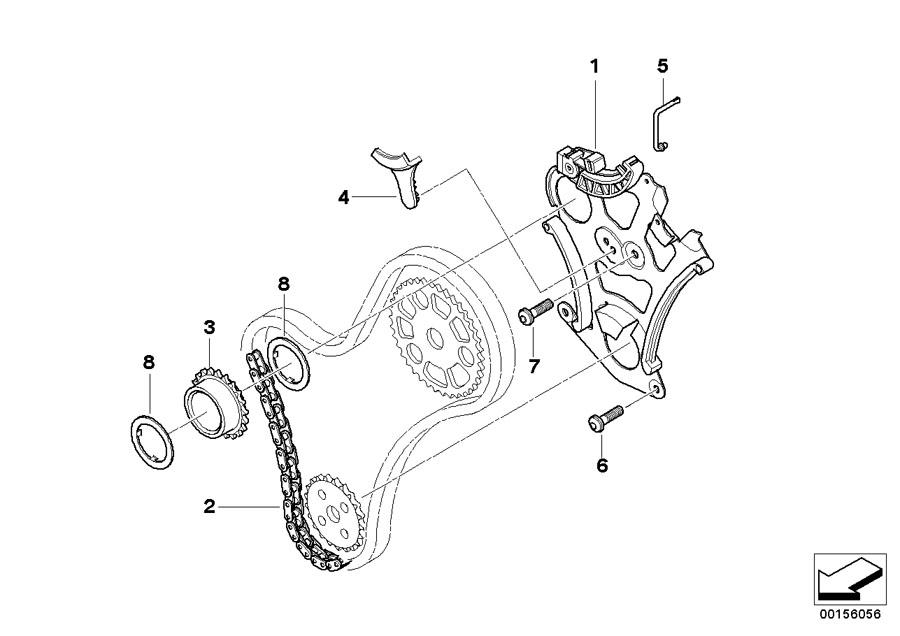 BMW 330i Securing f engine sprocket. System, Lubrication