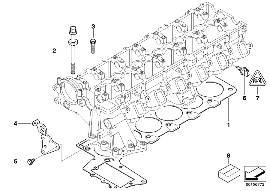 BMW 335d Cylinder Head Gasket Asbestos-Free. 2-LOCH