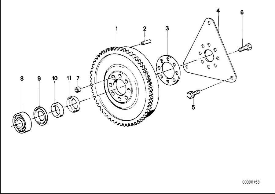 BMW 535i Twin Mass Flywheel. Engine, Drive, Crankshaft