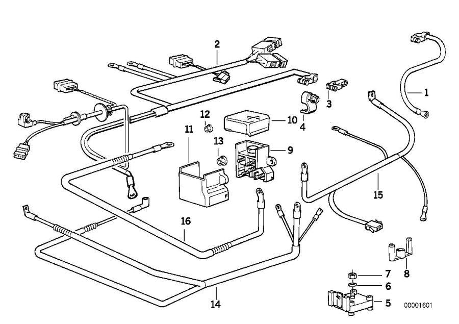 BMW 540i Cable alternator-starter-base b+. Battery, system
