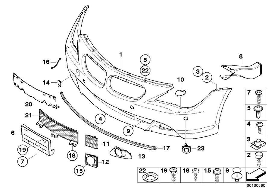 BMW 645Ci Front spoiler. Trim, Panel, Bumper, Body