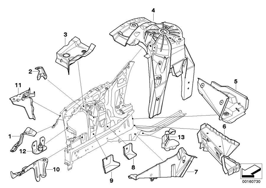 BMW 528i Fillister head screw. ISA M6X14 MK. Body