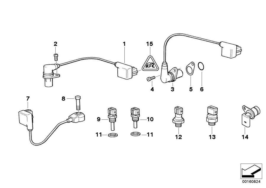 BMW 740iL Camshaft sensor. ALPINA, Engine, System