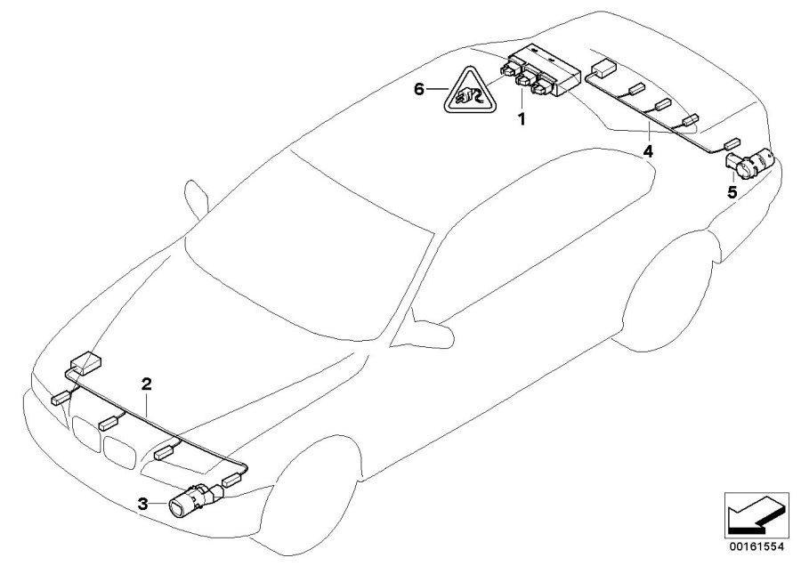 BMW 530xi Ultrasonic sensor Flamenco Red. M470