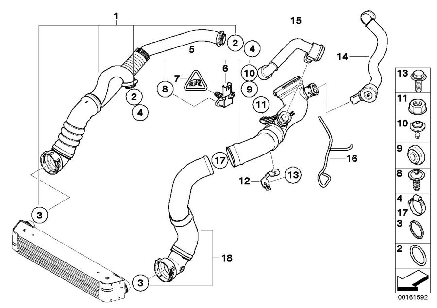 BMW 135i Hose clamp. D= 65-72MM. Intake, Duct, Fuel