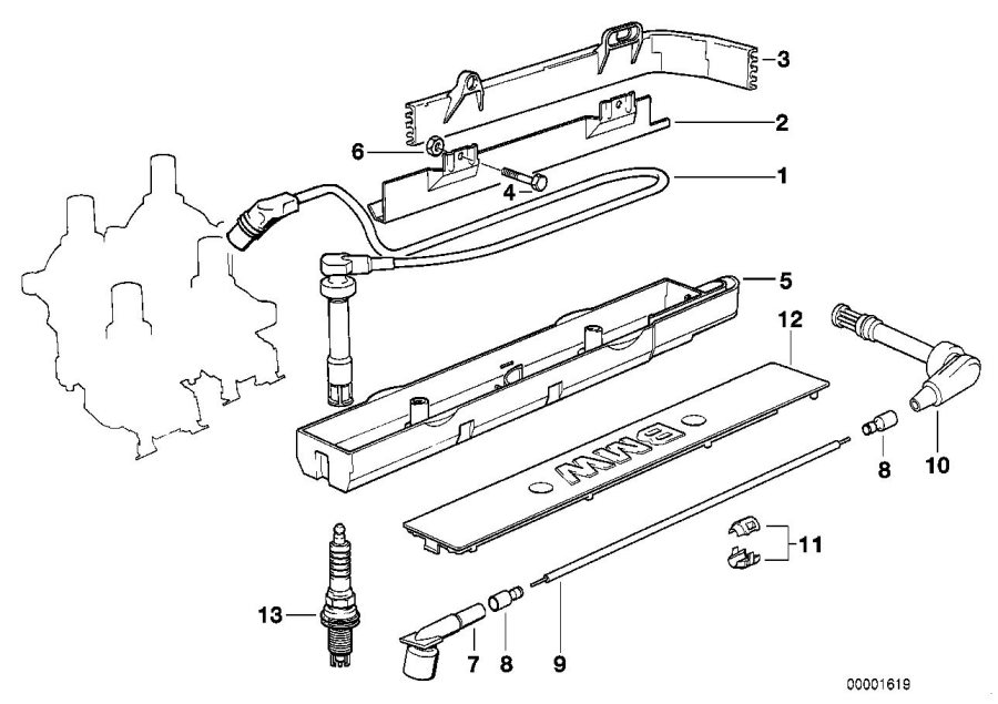 BMW 325i Spark plug, High Power. Ignition, Engine, Oil