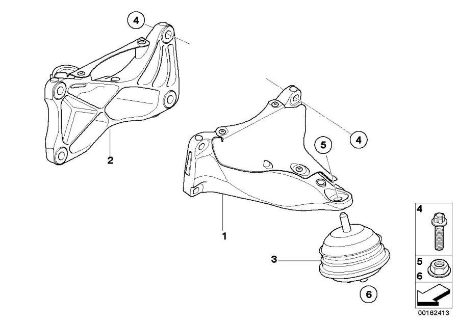 BMW M3 Engine supporting bracket, right. Suspension