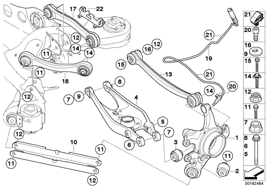 BMW M Coupe Pulse generator, DSC rear. Suspension, Axle