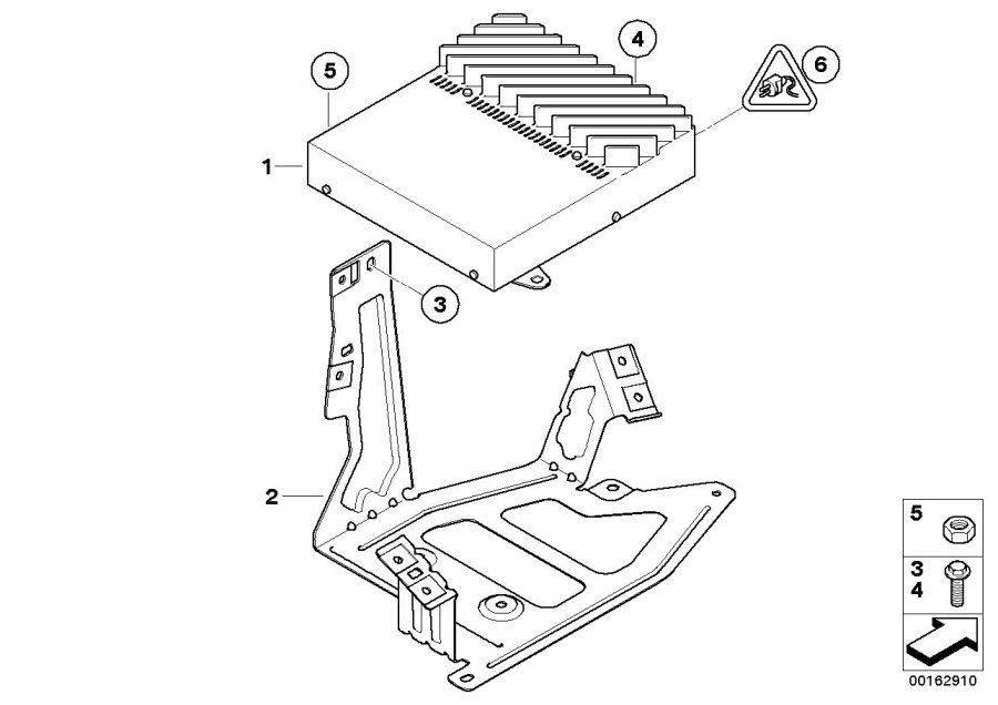BMW 128i Holder Hifi system amplifier. Electrical, Coupé