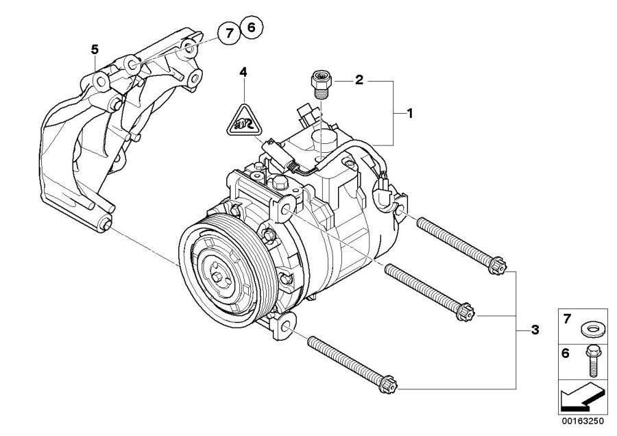BMW X5 Set of alu. Screws air cond.compress. Compressor