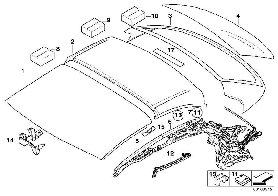 BMW 335i Roof shell, rear. Shells, Retractable, Hardtop