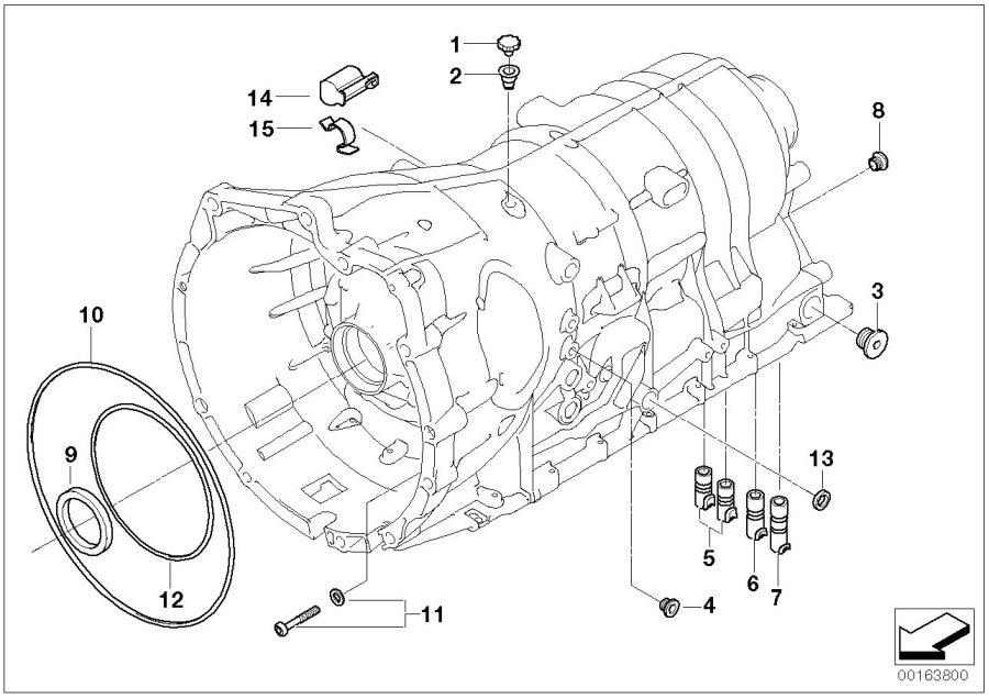 BMW Alpina B7X Shaft seal. 45X58X7. ALPINA, Housing, Awd