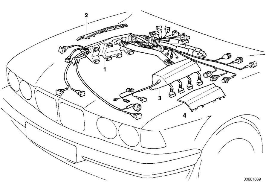 BMW 740iLP Covering upper right. Engine, electrical