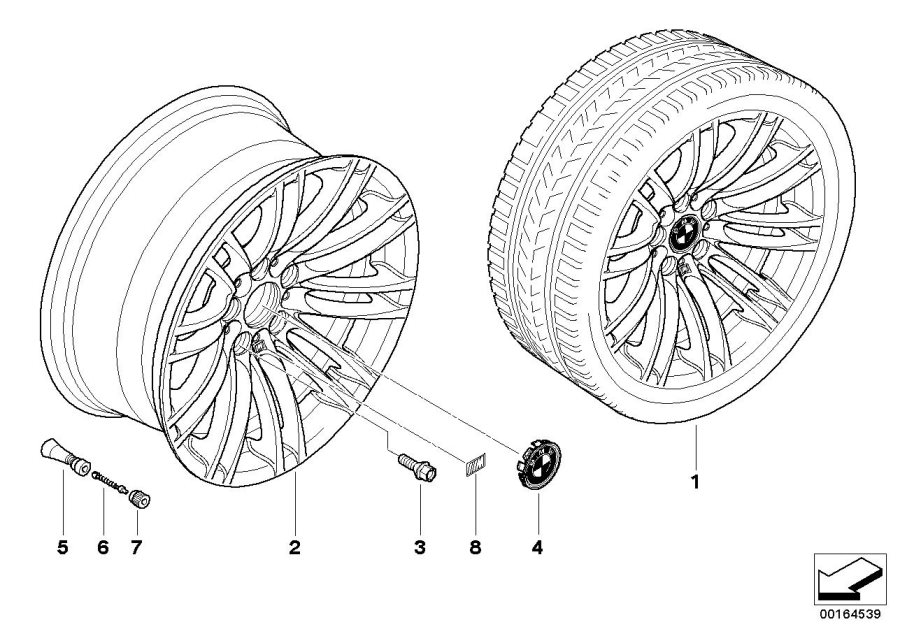 BMW M3 Disc wheel, light alloy, reflex-silber. 81/2JX18 ET