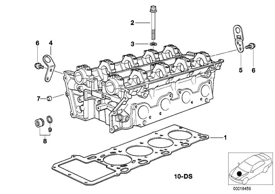 BMW X5 Cylinder head gasket. Engine, Attached, APPLIES
