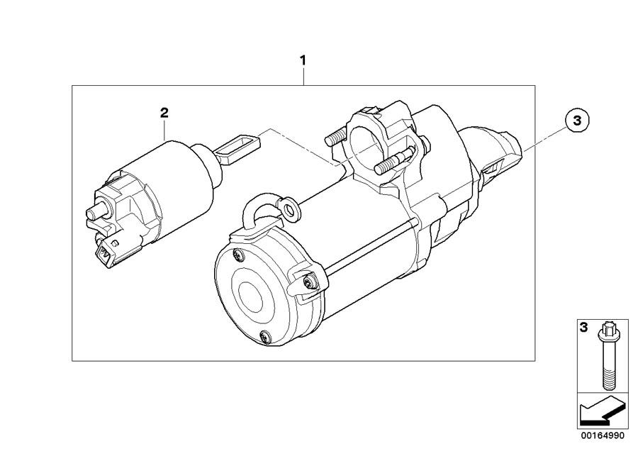 BMW Hybrid 7L Asa-bolt. M10x30. Engine, starter