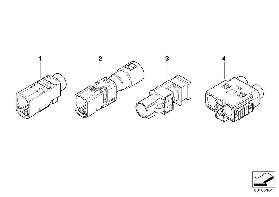 BMW M4 GTS Socket housing, watertight. 1 POL. / FAKRA