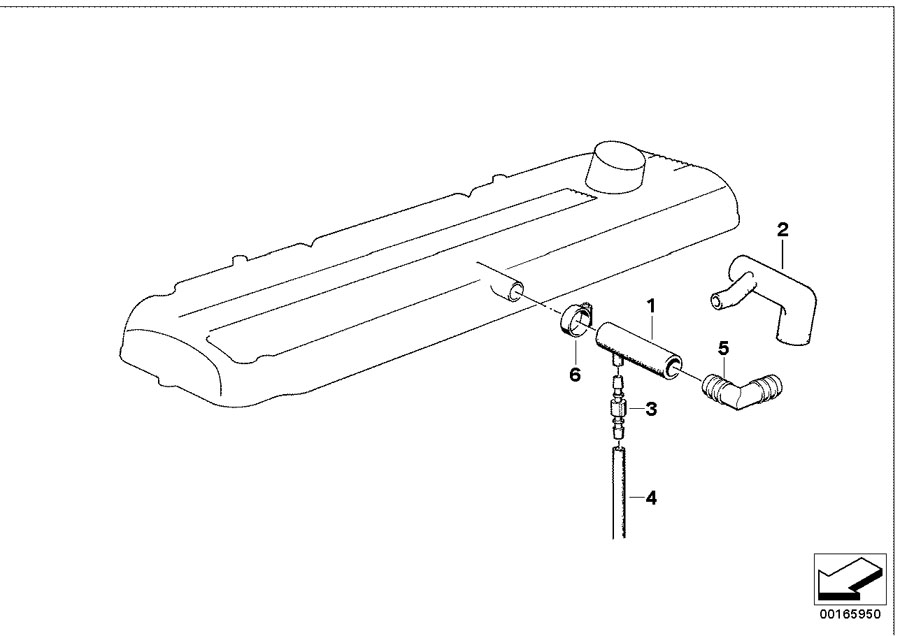 BMW 735i Vent hose. D=20MM. Cylinder, CRANKCASE, Head