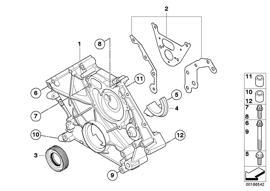 BMW X6 Timing case cover, bottom. Engine, Lower, Housing