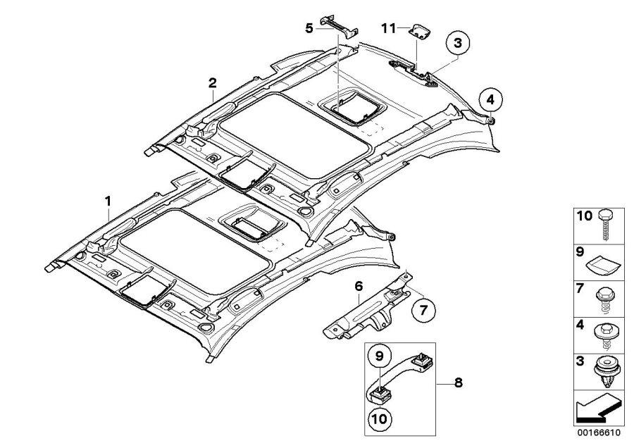 BMW 128i Headlining, lift-up & slide-back sunroof. BEIGE