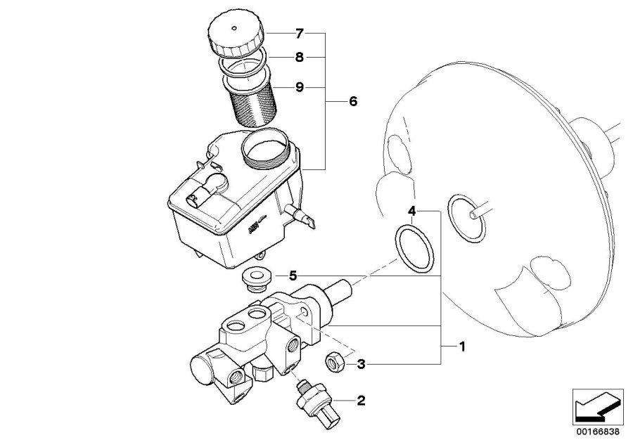BMW 328Ci Brake master cylinder. Brakes, maintenance, dsc