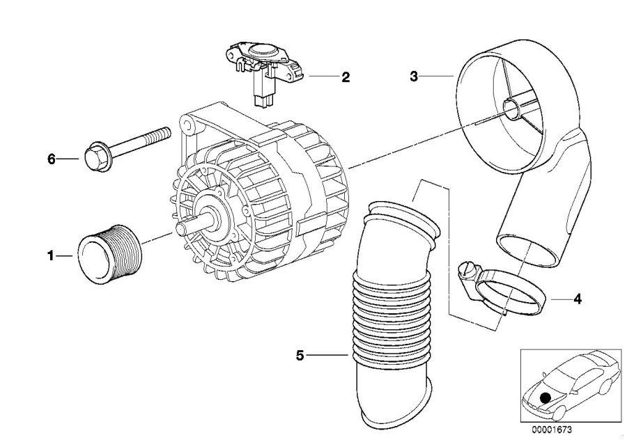 BMW 840Ci Voltage regulator. BOSCH. Alternator, Individual