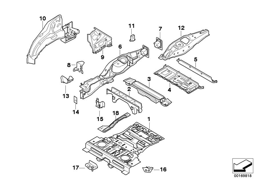 BMW X6 C-pillar reinforcement, right. Rear, Body, Rid