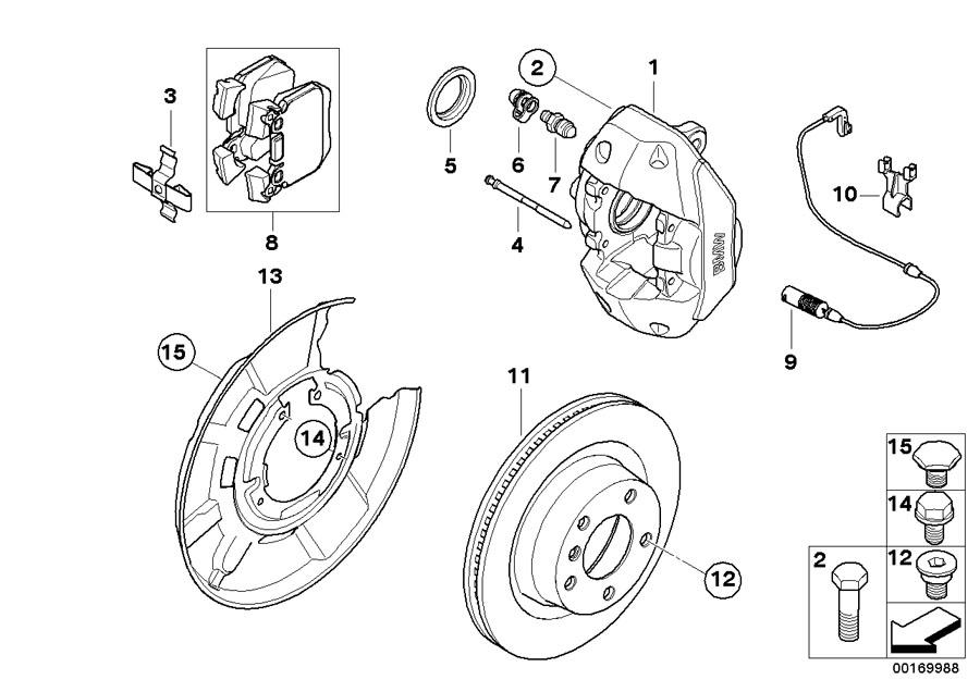 BMW 330i Brake disc, ventilated, w/holes, rear. 324X22