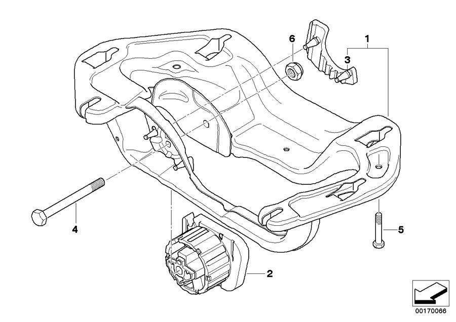 BMW X5 Gearbox mount. Transfer, Suspension, Case