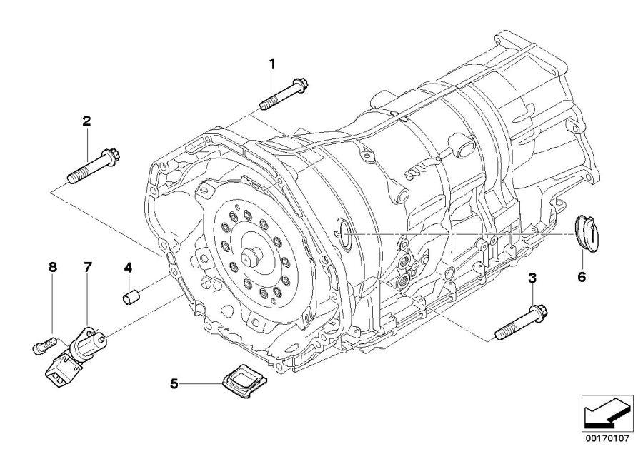 BMW 750LiX Crankshaft engine speed sensor. ALPINA, System