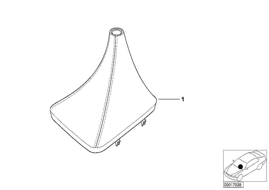 BMW M3 Leather boot walk-nappa. Schwarz. Gearshift