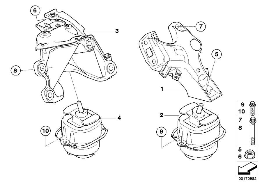 BMW X6 Engine mount, left. Suspension, Transmission