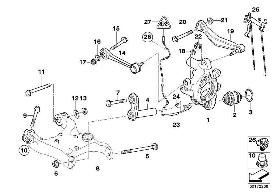 BMW 750Li Self-locking collar nut. M16X1, 5-10 ZNS3. Axle