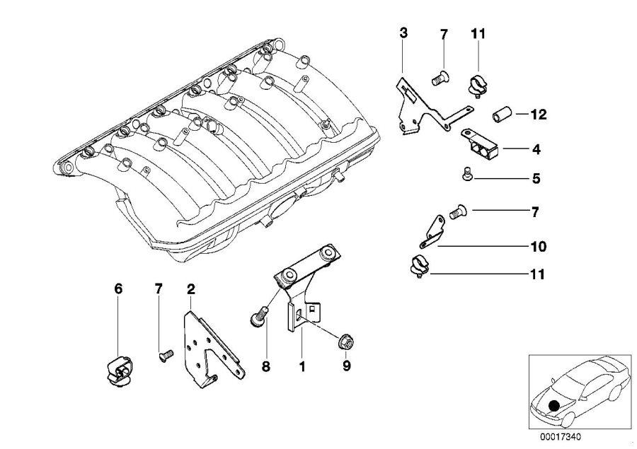BMW 750LiX Cable clip. ALPINA, Fixings, SINGLE
