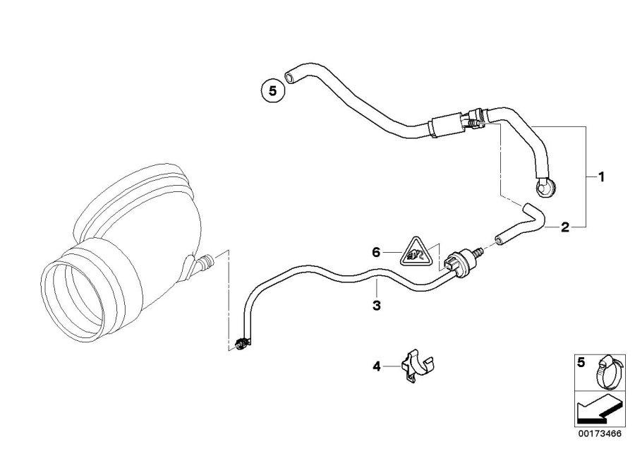 BMW Z4 Air shut-off valve. Brake, Control, Engine