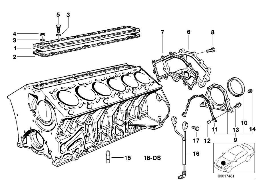 BMW 750iLP Gasket Asbestos Free. Engine, BLOCK, Electrical