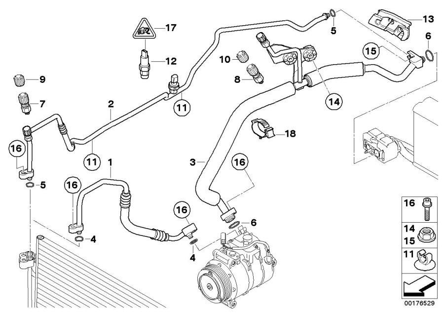 BMW 750iL Pressure sensor. Rex, Lines, ALPINA
