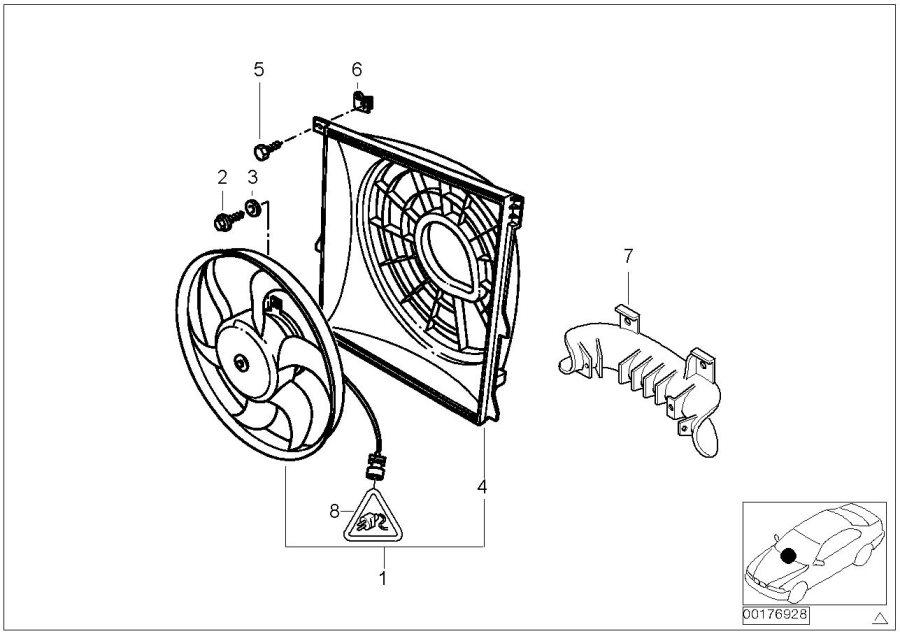 BMW 318ti Air channel bracket. Intake, conditioning