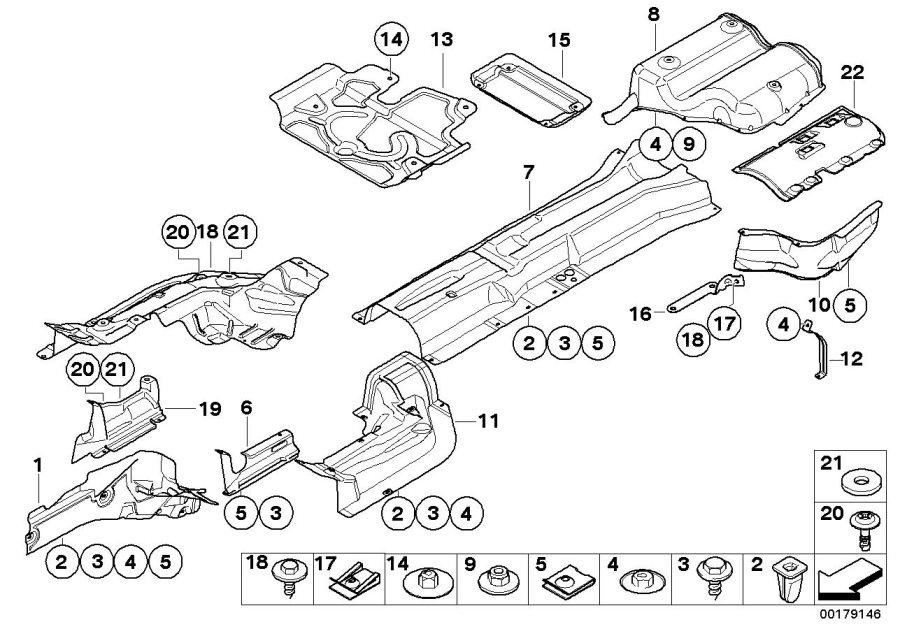 BMW 525xi Quick-release screw. 18, 4MM. ALPINA, AIR, Body