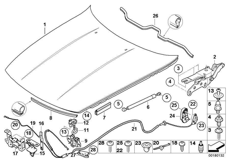 BMW Z4 Aluminium engine hood. Body, OUTER, Trim
