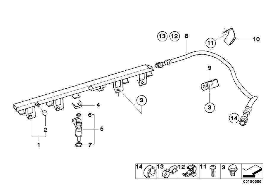 BMW X5 O-ring. 8, 54X3, 10. Rex, SYSTEM, Fuel