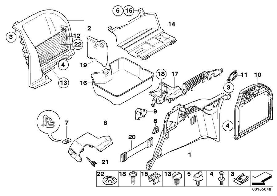 BMW M Coupe Socket mount. SCHWARZ. Trim, Trunk, Panel