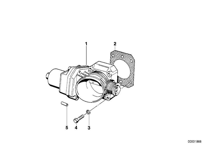 BMW 850Ci Throttle Housing Assy Eml. Fuel, System