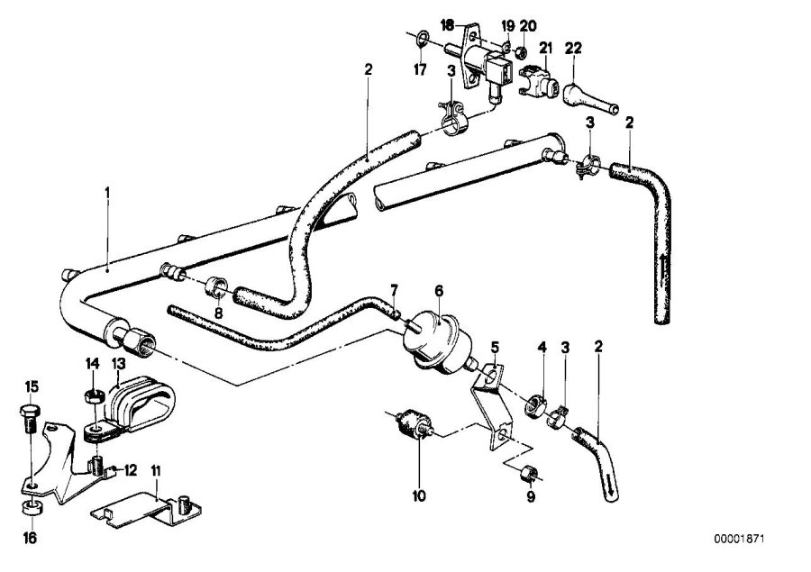 BMW 733i Sleeve. Fuel, SYSTEM, INJECTION, Jetronic
